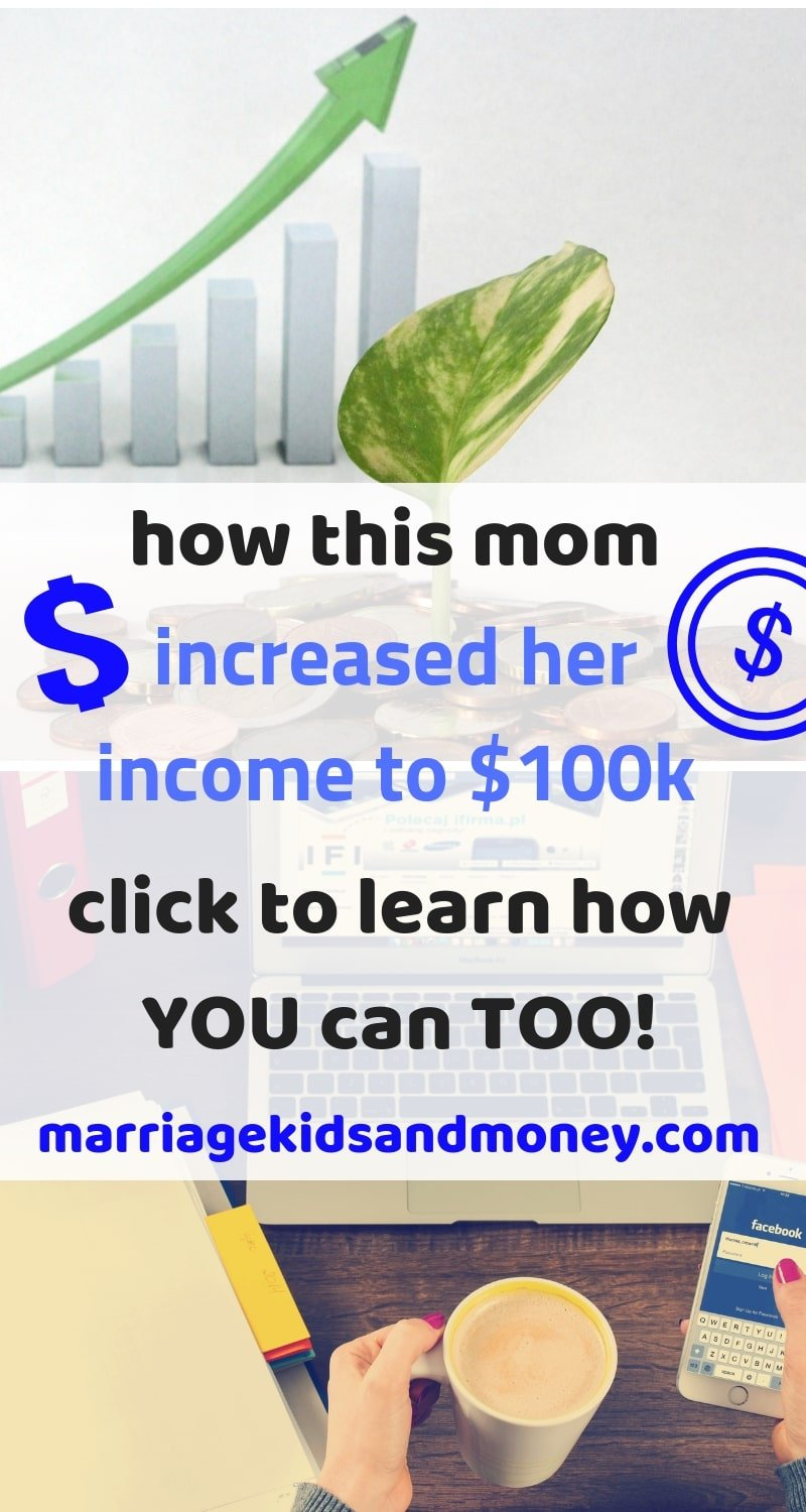 Working mom. Increasing income. Balancing family and career. How to make six-figures.