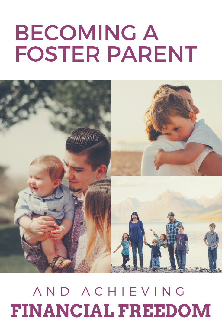 Foster care families loving each other