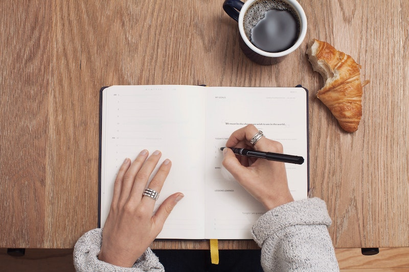 making a list in journal