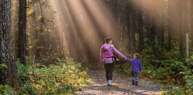 Walk on Path with daughter